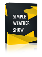 Simple Weathershow Joomla Module