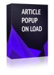 Article Popup On Load Joomla Module