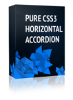 Pure CSS3 Horizontal Accordion Joomla Module