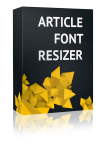 Article Font Resizer Joomla Module