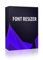 Fancy Font Resizer Joomla Module