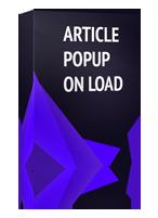 Article Popup On Load Joomla Module